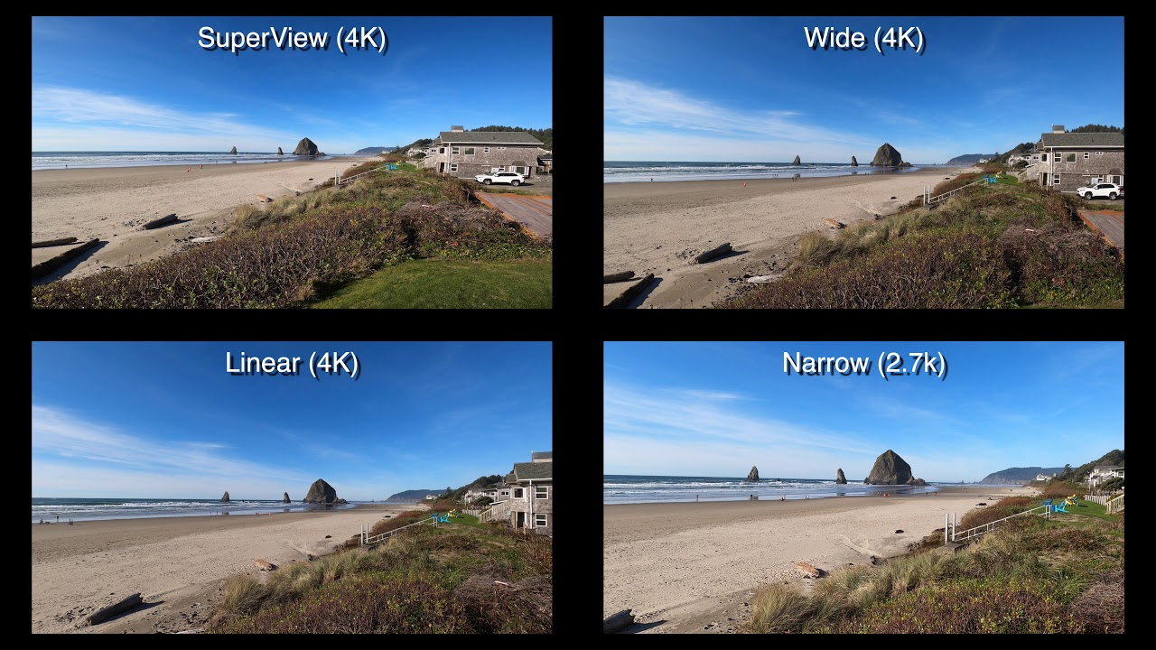 gopro8 fov superview wide linear narrow